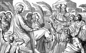 Jesus auf Esel