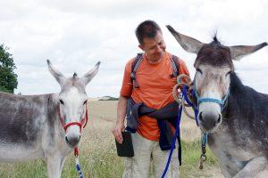 Foto: Mi, 6.8.16 Ausflug mit Esmeralda (links) und Leo, Mi und mir.