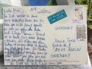 Postkarte Bulgarien hinten